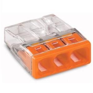 WAGO Raccord 3x0,5-2,5mm transp.Orange