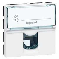 LEGRAND Mosaic prise ISDN 8 contacts 2 modules