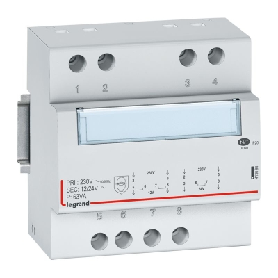 LEGRAND Transfo sec. 12/24V - 63VA 5 modules